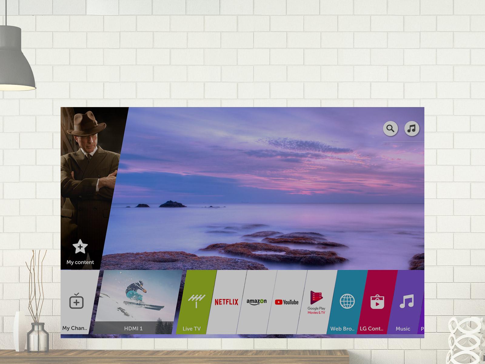 Esta es la plataforma inteligente webOS del LG 55UK6400PLF