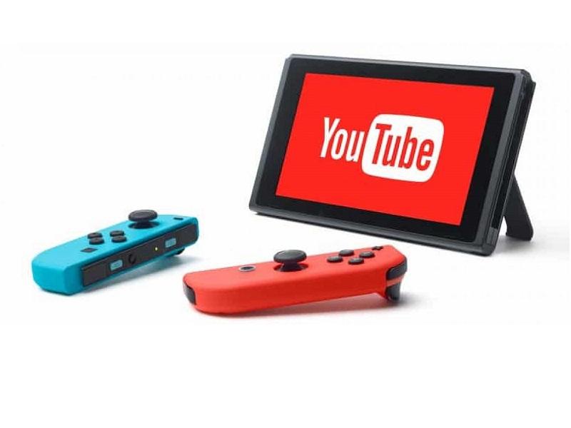 youtube en nintendo switch