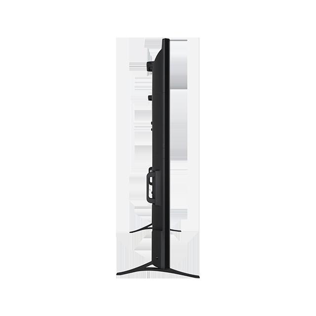 El perfil no es estético pero, considerando el tamaño del televisor, es estrecho, que es lo importante