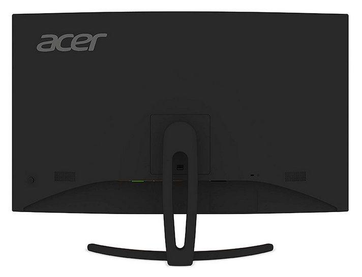 Acer ED323QUR - Los puertos están ubicados en dirección inferior para una conexión directa