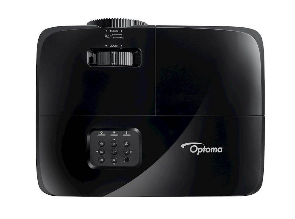 Optoma H184X - La parte superior cuenta con los distintos controles y ajustes del lente