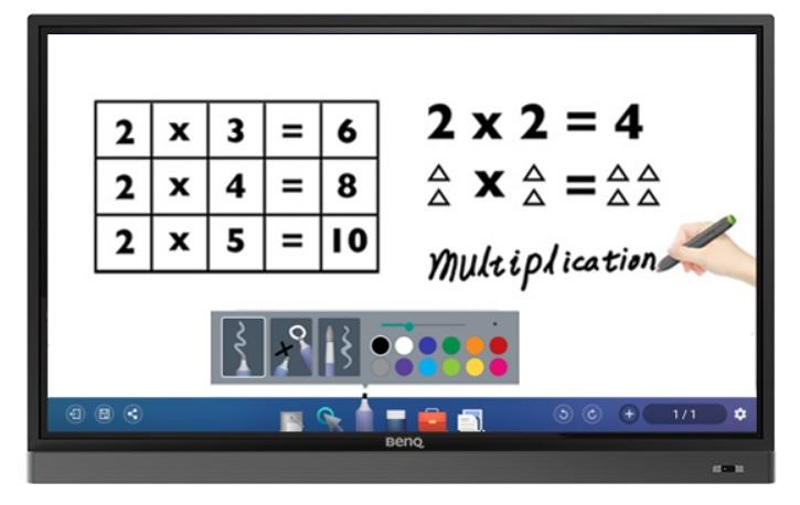 BenQ RM5501K - Detección de escritura