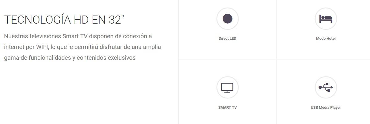 Infiniton INTV-32LS330 - Funciones