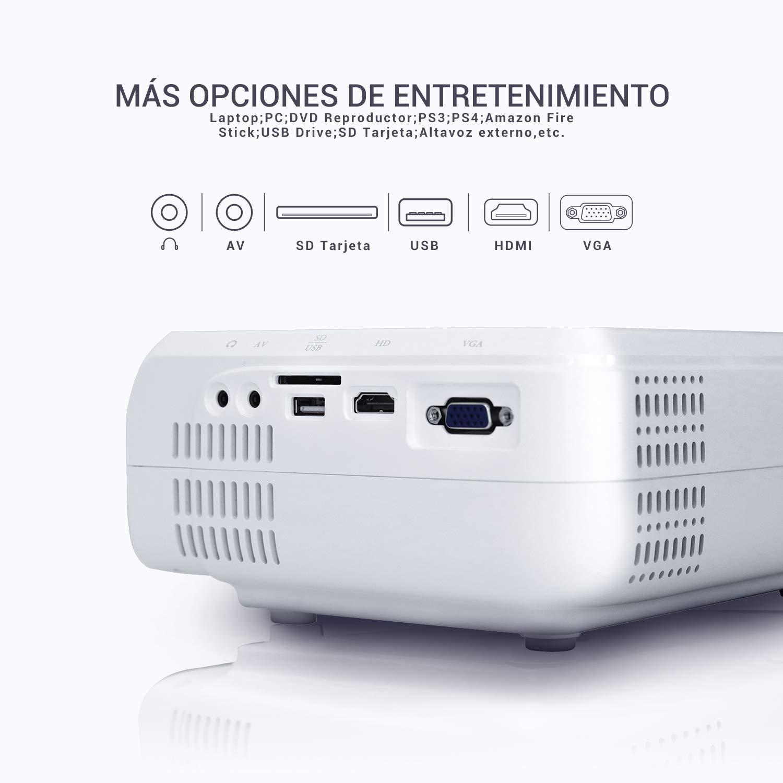 BOMAKER Proyector 3600 - conexiones