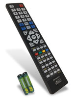 Este es el mando a distancia que trae este modelo