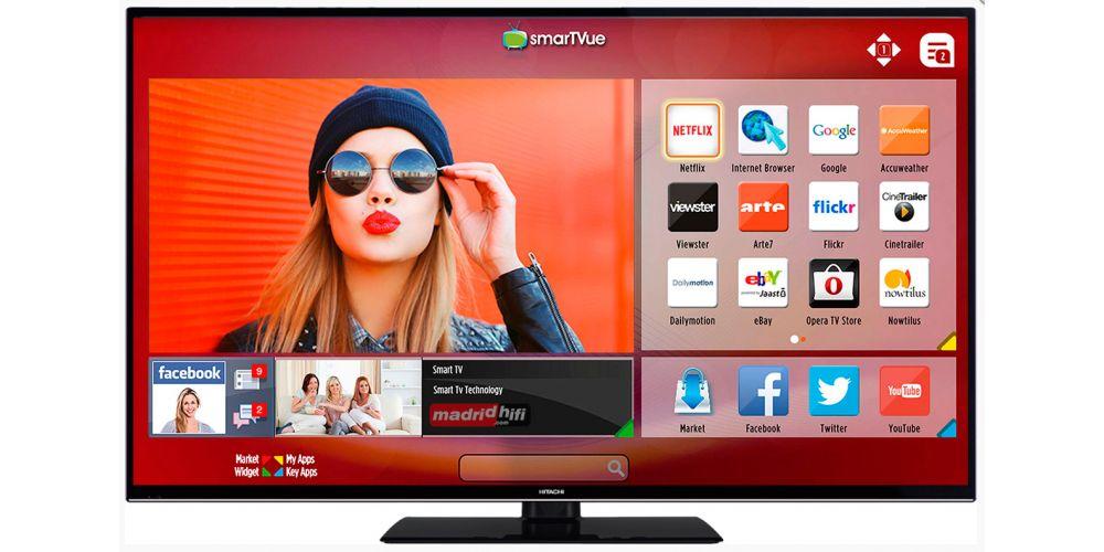 SmartVue es la plataforma smart que Hitachi utiliza en sus televisores inteligentes