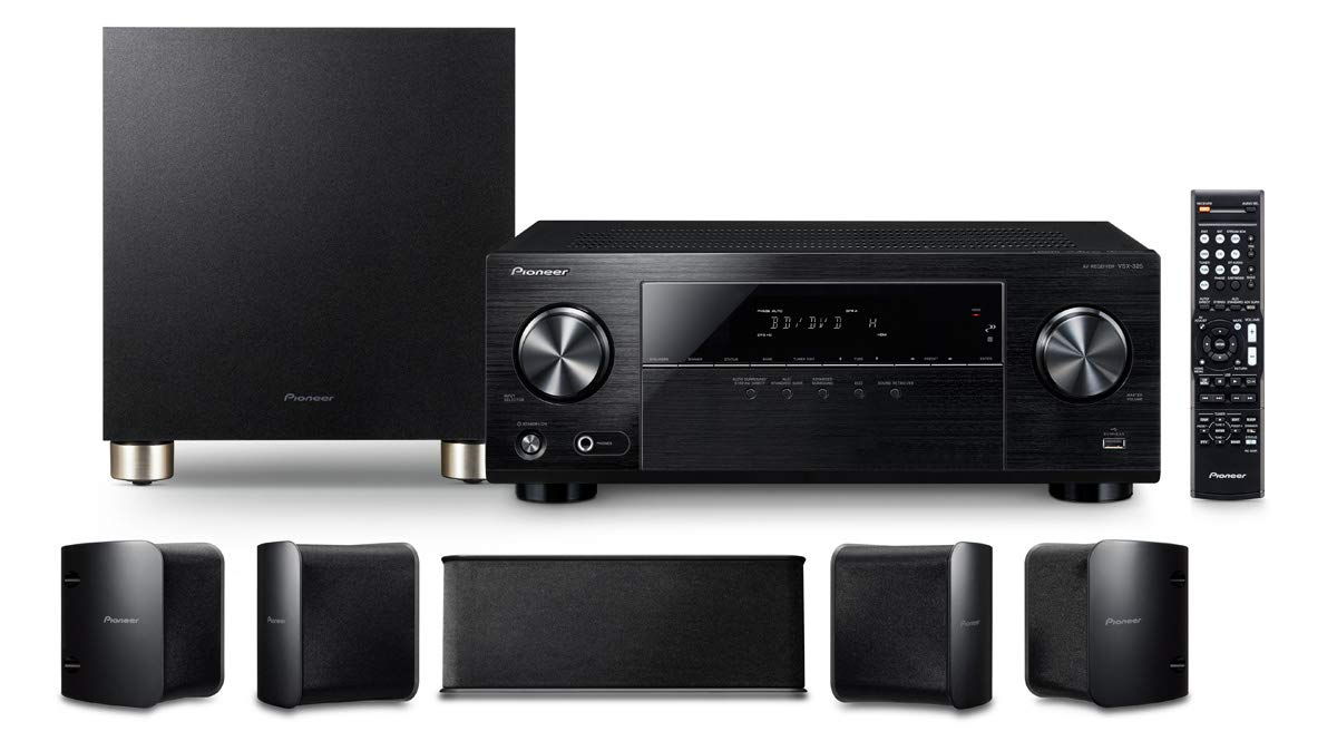 Estos son todos los elementos que componen el sistema de audio Pioneer HTP-074-S
