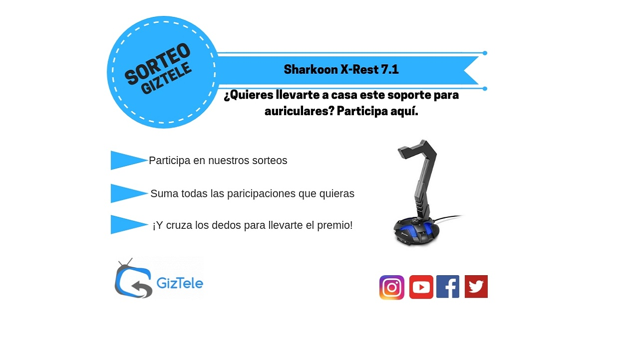 sorteo Sharkoon X-Rest 7.1