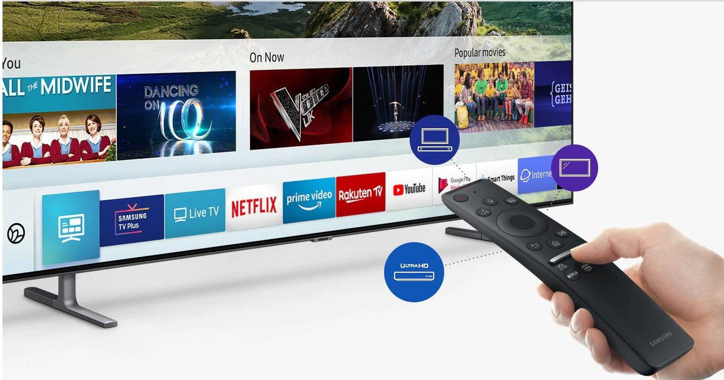 Contamos con muchas opciones inteligentes en el Samsung 65Q80R