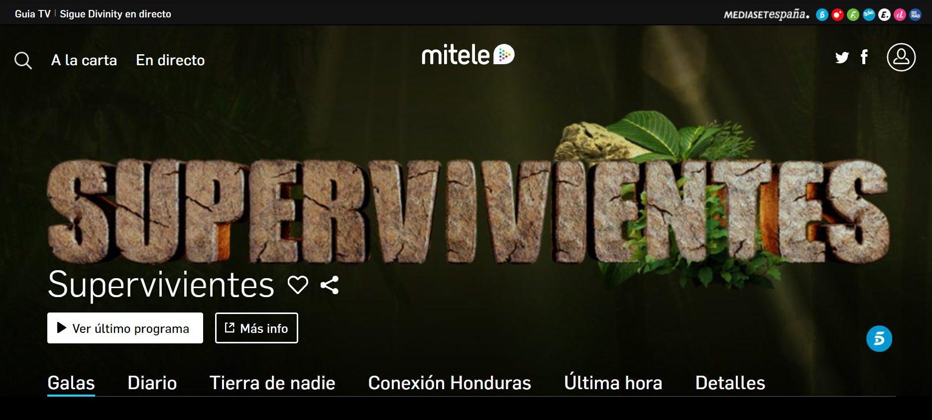 Supervivientes tiene todas las papeletas para ser uno de los primeros contenidos de pago de MiTele