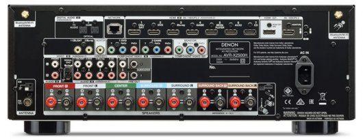 Denon AVR-X2500H - Puertos y conexiones