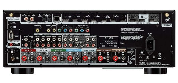 Denon AVR-X3500H - Puertos y conexiones