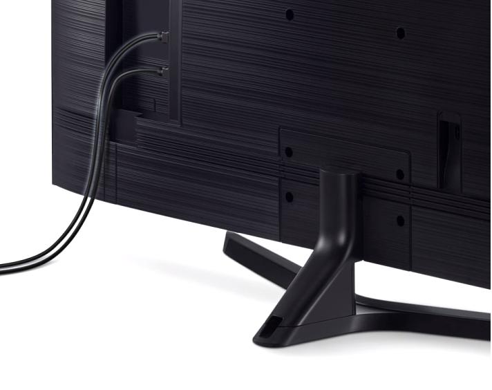 Los cables quedan bastante bien disimulados en este modelo gracias a un sistema específico para ello