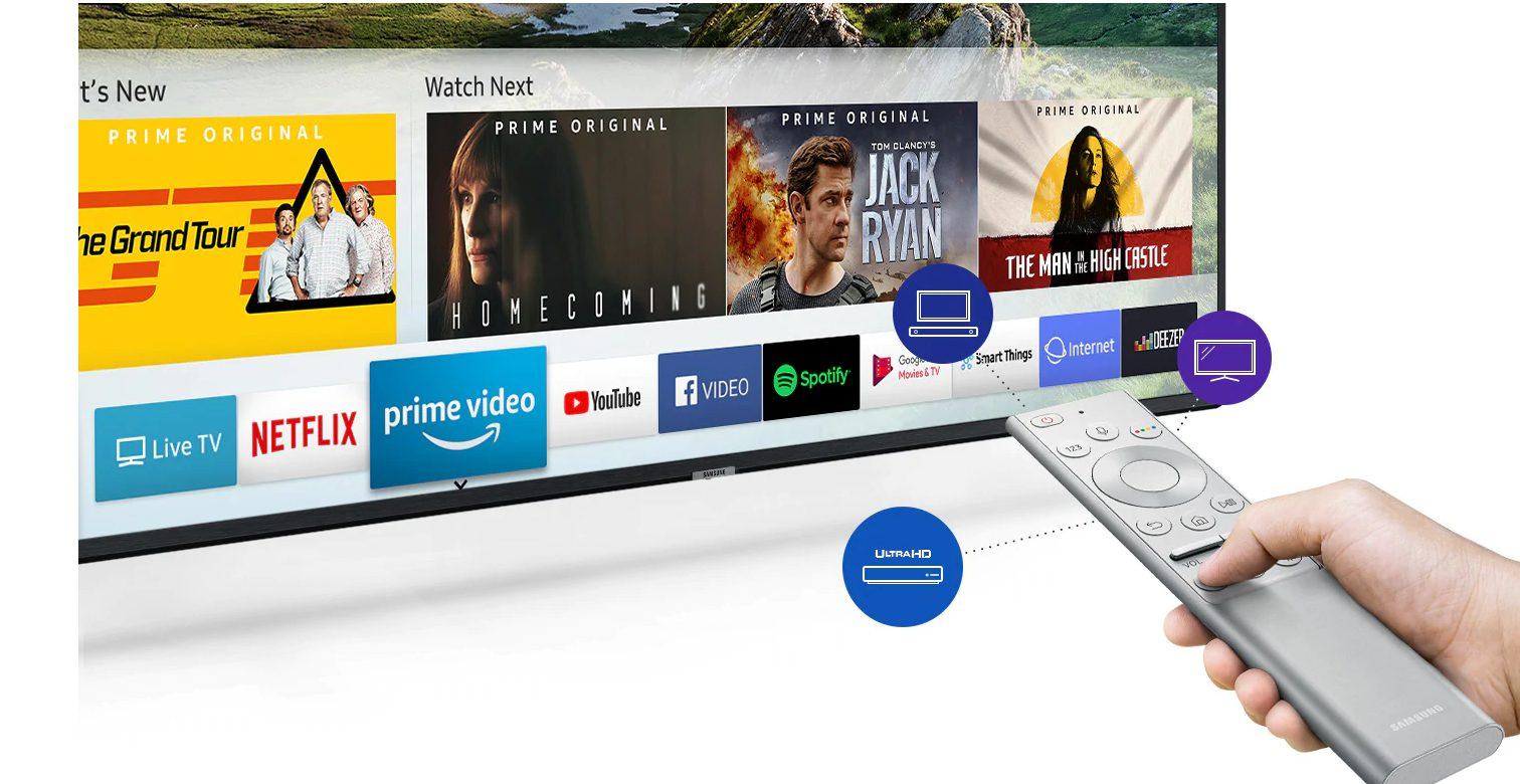 Las opciones de entretenimiento con Samsung 65RU7475 no terminan