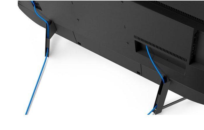 Las conexiones se disimulan por el gestor de cables