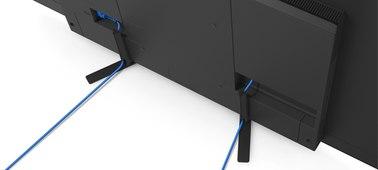 Los cables de todas las conexiones se pueden gestionar de manera sencilla con el Sony KD55AG8BAEP