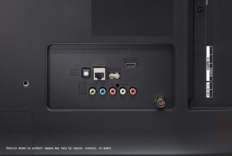 Aquí vemos todas las conexiones del LG 55UM7400