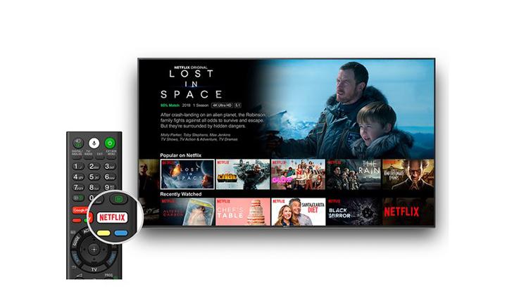 Sony KD-43XG8396, Netflix