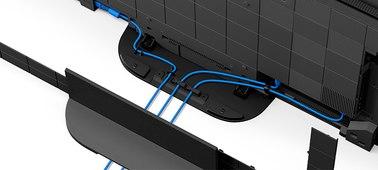 Aquí vemos cómo se gestionan los cables