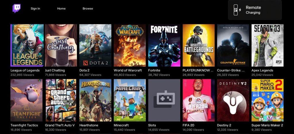 Este es el aspecto de la beta de Twitch en Apple TV