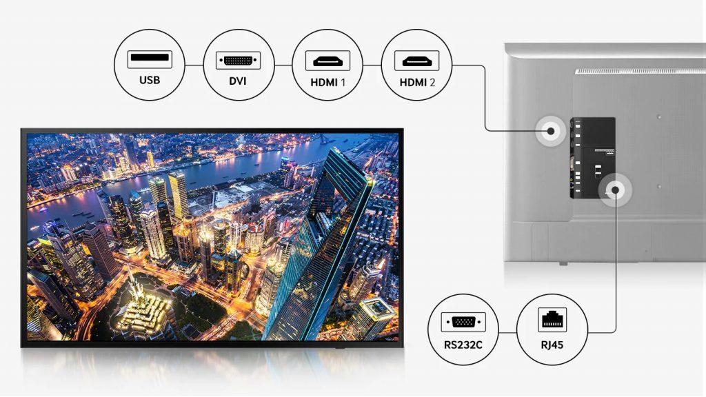 Samsung LH49DCJPLGC, conectividad