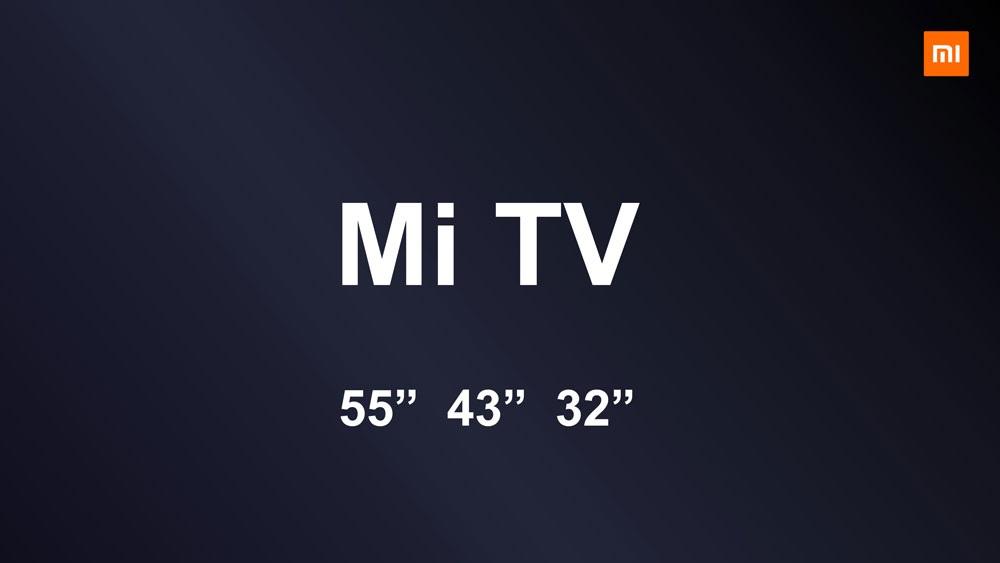 Xiaomi Mi TV, versiones