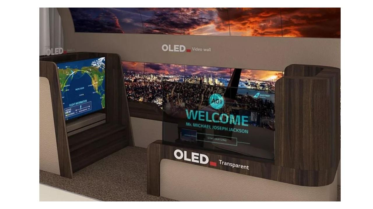 pantallas oled para los aviones