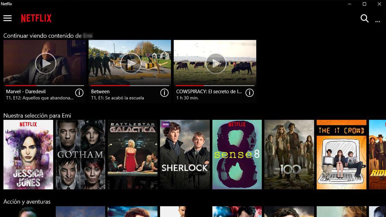 quitar contenido de Seguir viendo en Netflix