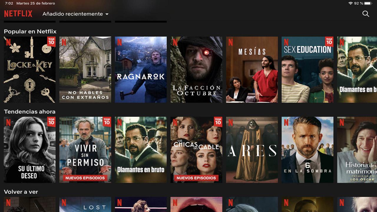 Buscar contenido en Netflix
