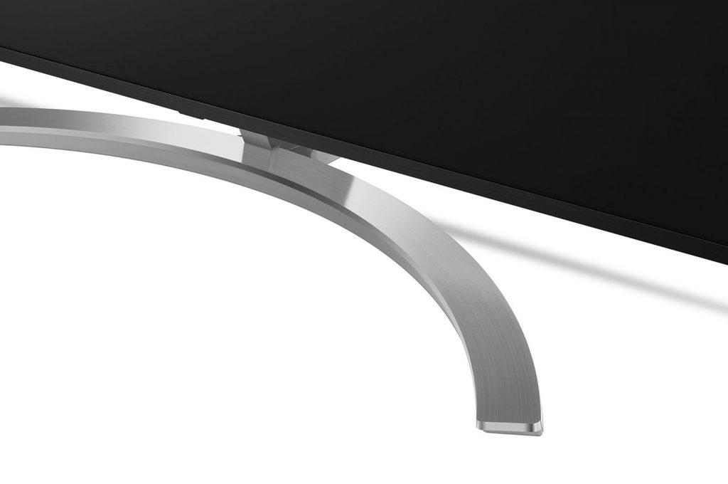 Este tipo de peana ofrece una gran estabilidad al LG 75SM9900