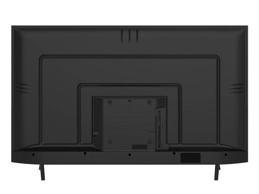Los conectores de la Hisense H43B7100 quedan bastante bien disimulados si la miramos desde la espalda