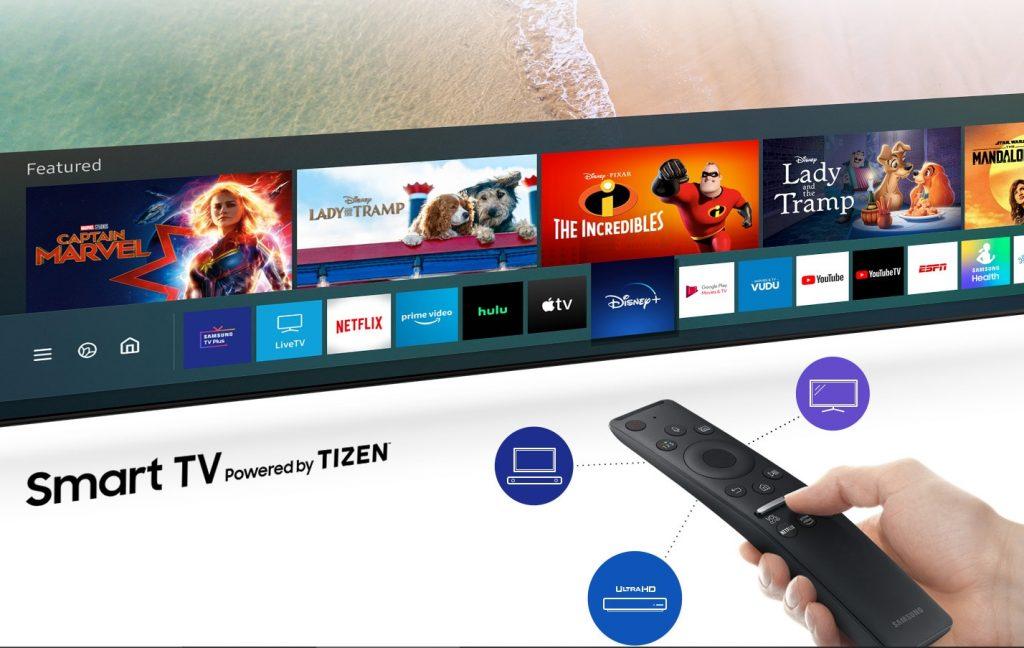 Este televisor incluye un sistema operativo inteligente exclusivo de Samsung, Tizen