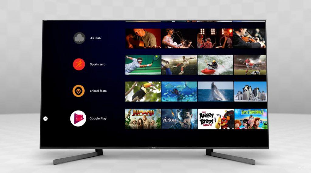 Android TV luce de este modo en el Sony KD85XG9505
