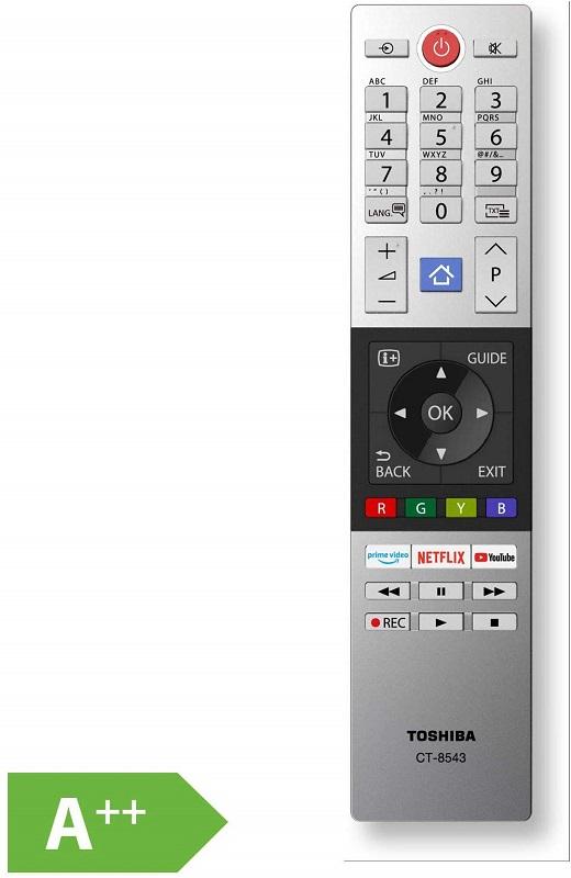 Toshiba 58U2963DG, mando a distancia
