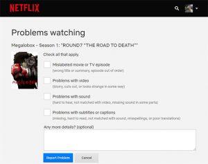Reporta a Netflix si los fallos se dan únicamente en su plataforma y después de reiniciarla
