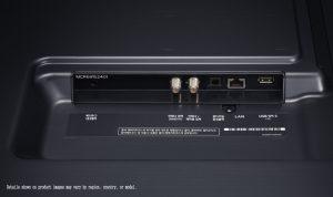 Ambas ranuras de conexión del LG 55NANO916NA
