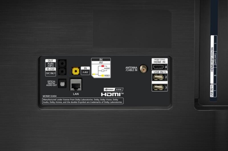 LG OLED55CX, conexiones