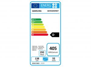 Etiqueta energética de la Samsung Q950R