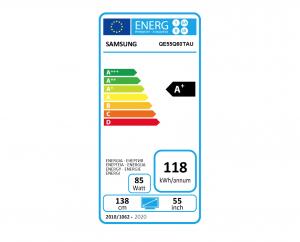 Etiqueta energética de la Samsung Q60T