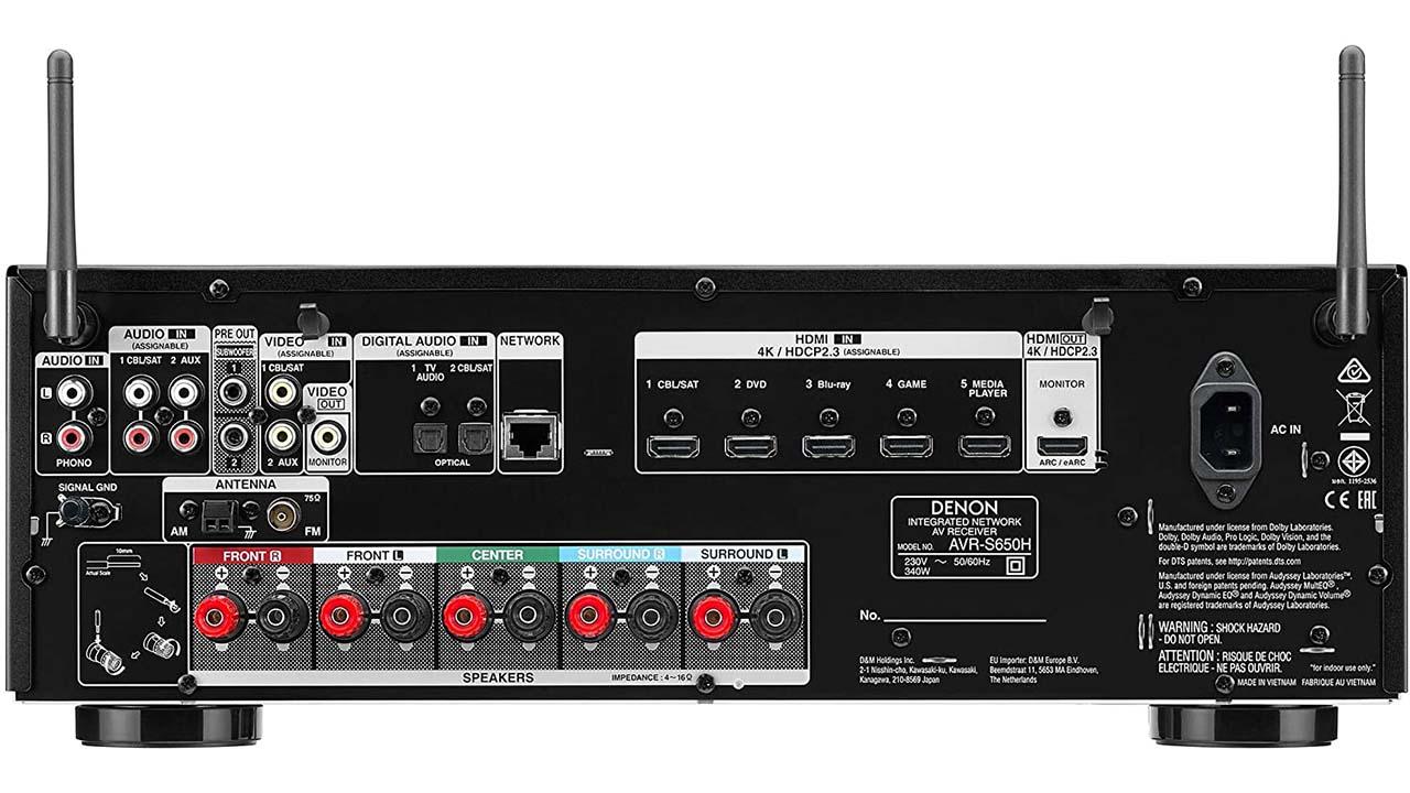 Denon AVR-S650H sonido