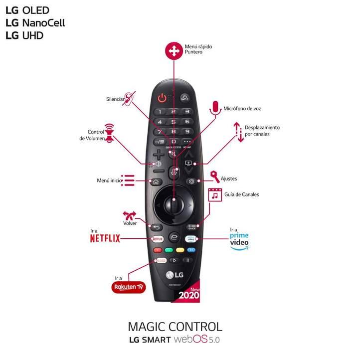 LG OLED55CX6LA, mando a distancia
