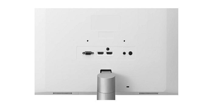 LG 27MK600M-W, conexiones