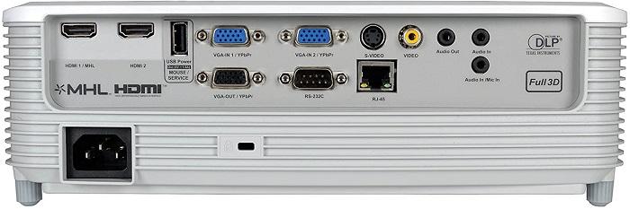 Optoma X354, conexiones