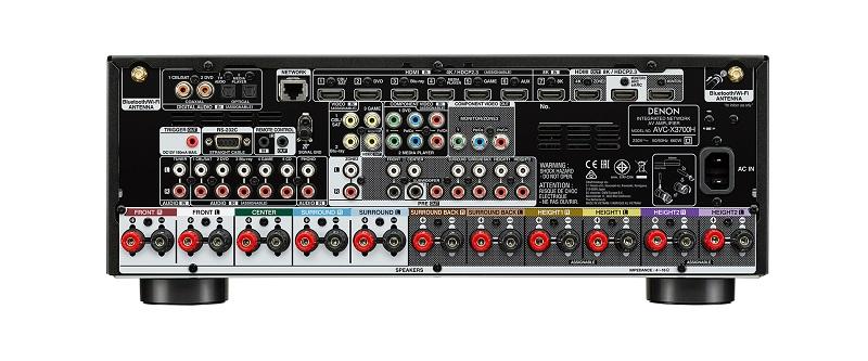 Denon AVC-X3700H, panel trasero