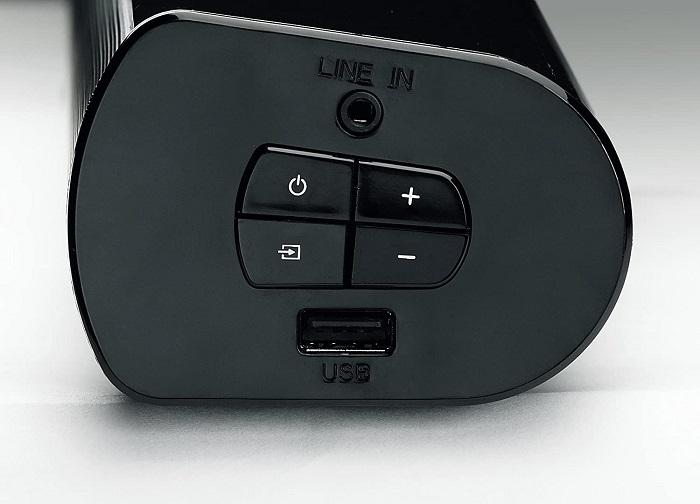 Grundig DSB 950, controles y puertos