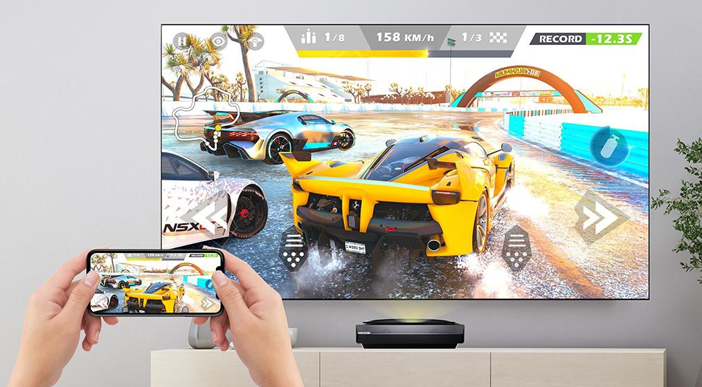 El Bomaker Polaris 4K Laser TV también soporta Bluetooth y Wi-Fi para conexión inalámbrica con el móvil y otros dispositivos (2)
