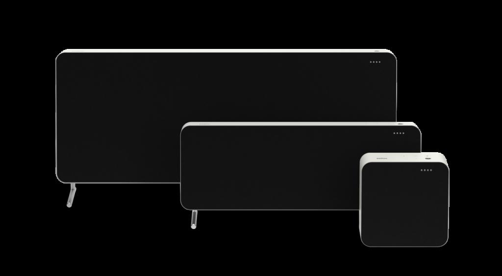 Estos son los tres modelos, que se pueden orientar vertical u horizontalmente y añadiéndoles soportes