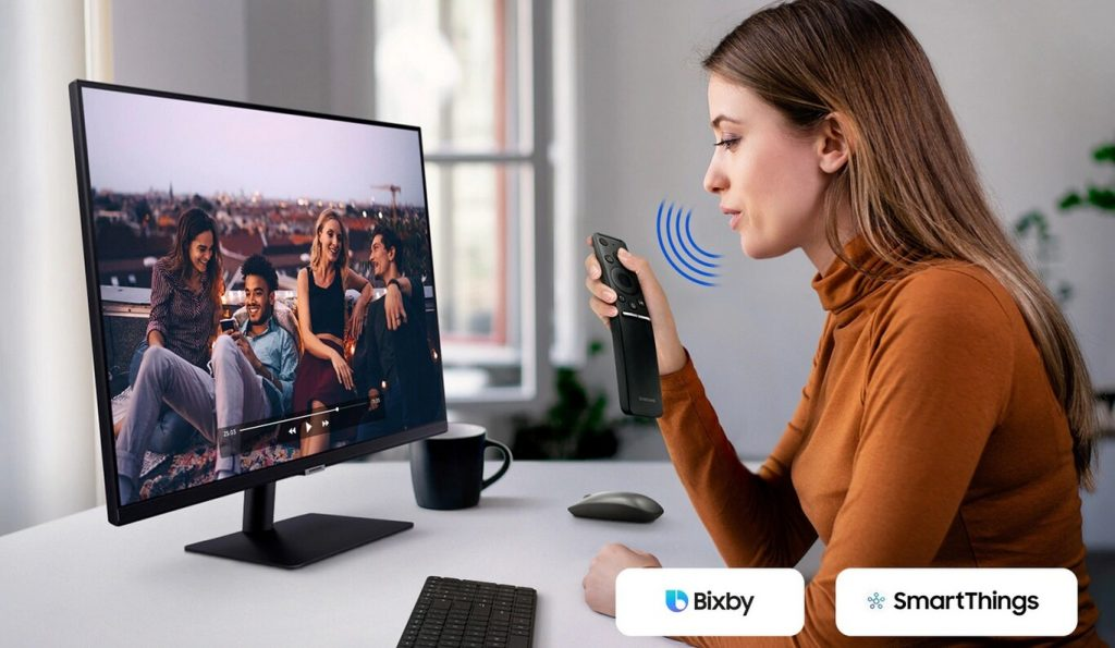 Puedes interactuar con los Smart Monitor de Samsung