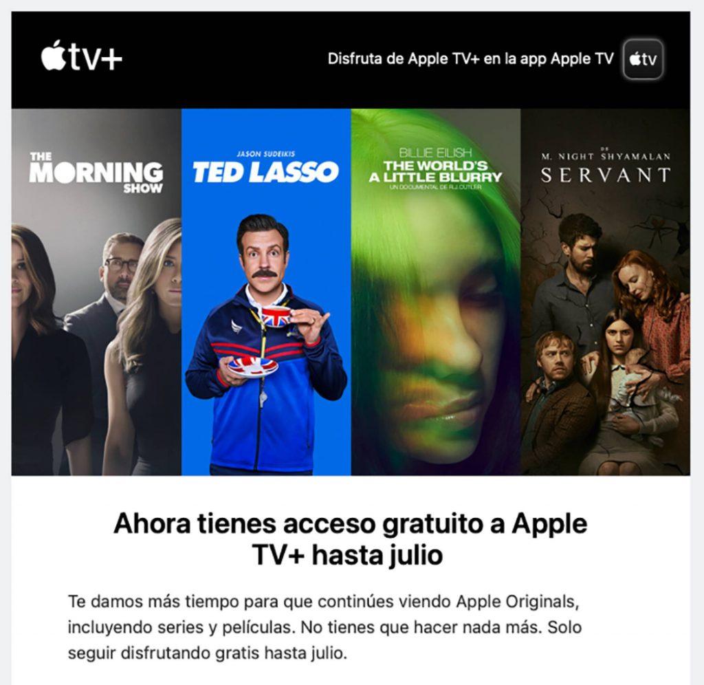 Así es como Apple nos hace saber que seguiremos disfrutando gratis de su contenido