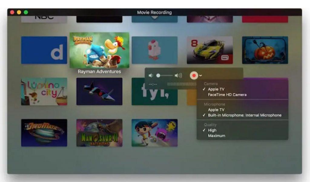 Escoge el contenido del dispositivo Apple TV que quieres guardar